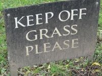 Keeping off the grass is very important